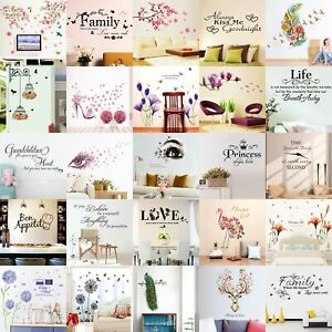 Quote-Wall-Stickers-Vinyl-Art-Home-Room-DIY-Decal-Home-Decor-Removable-Mural-DVG