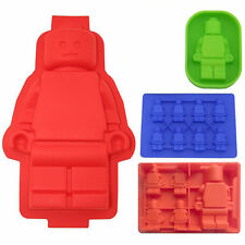 4x Lego Man Style Ice Cube Tray Chocolate Candy Soap Candle Jello Crayons Mold