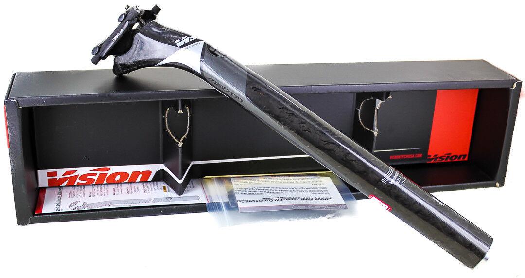 Visión FSA Metron bicicleta tija de sillín Di2 SB25 31.6 Mm x 350 mm Carbono gris Negro Nuevo