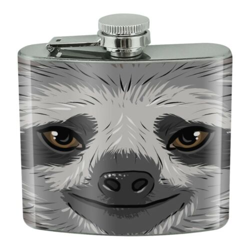 Cute Sloth Face Stainless Steel 5oz Hip Drink Kidney Flask