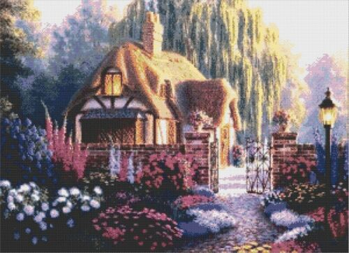 COUNTED CROSS STITCH CHART WILLOW COTTAGE # 2