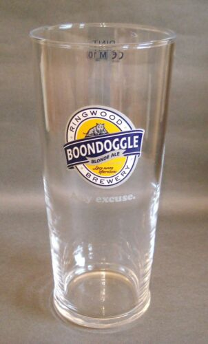 Boondoggle Ringwood Brewery Pint Glass Beer Pub Home Bar Man Cave