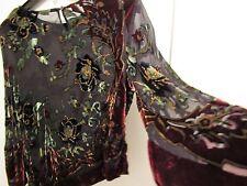 Gorgeous Velvet Floral Velvet Burnout Asymetrical Top With Cami M SALE!