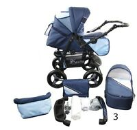 Pram, Stroller, Seat All On Single Structure 2in1 Made In Eu