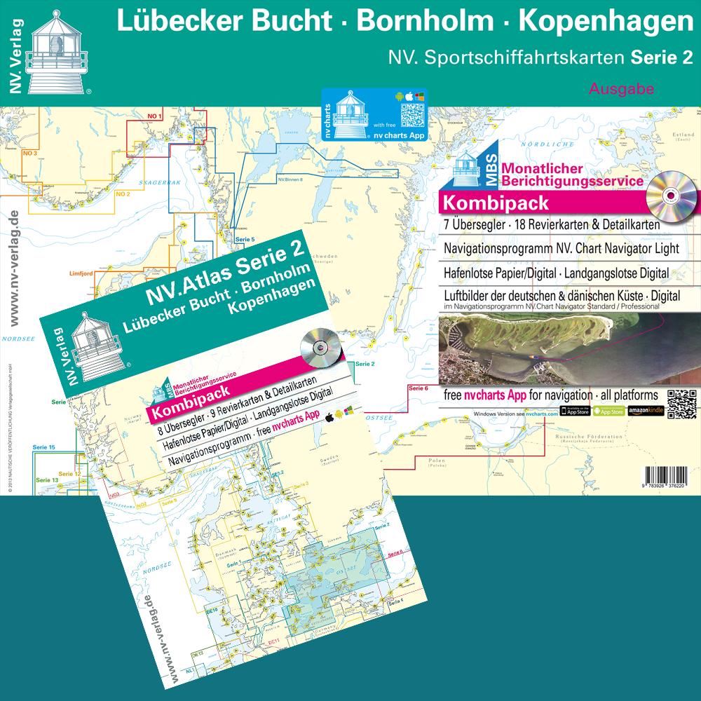 2019 2019 2019 NV-Verlag Kombipack Serie 2 Lübecker Bucht-Bornholm-Kopenhagen Seekarten 276454