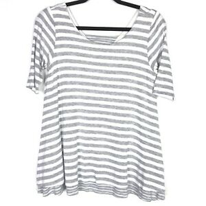 ec8acab2c03 Image is loading Anthropologie-Puella-Womens-Top-Size-Small-Striped-Mix-