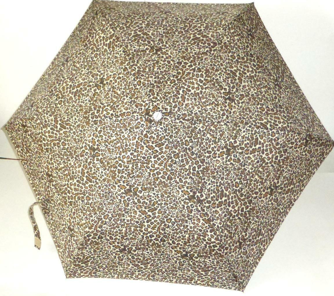 Leopard Spots Umbrella Shed Rain Auto Open Close w/Black Case Color Splash New