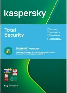KASPERSKY TOTAL SECURITY 2021 10 PC DEVICE  MULTI DEVICE - Download