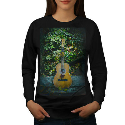 Wellcoda Guitar Song Nature Womens Sweatshirt, Music Casual Pullover Jumper