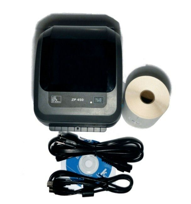 Zebra ZP450 Direct Thermal Shipping Label Printer + Bundle. Buy it now for 140.00