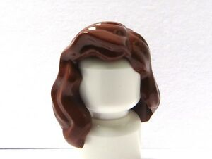 Lego 5 Girl Female Minifigure Figure Hair Wig Long Grey Over Shoulder