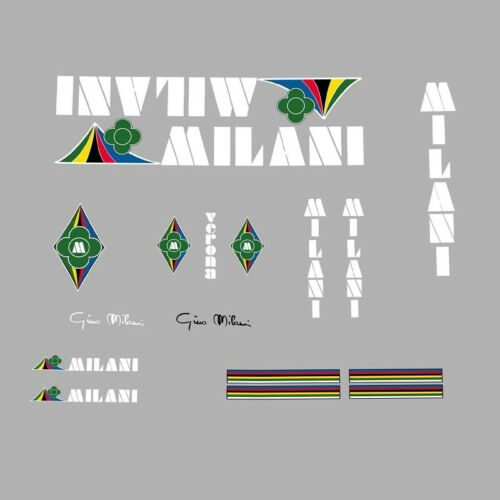 White Stickers n.801 Milani Bicycle Set Decals