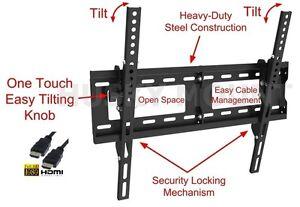TV-Wall-Mount-Flat-Tilt-Bracket-26-32-40-42-55-60-65-inch-LED-LCD-Flat-Screen