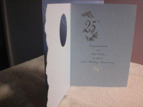 Carol/'s Rose Garden Happy 25th Anniversary card