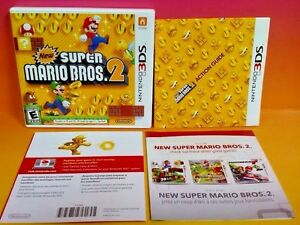 New Super Mario Bros  2 Nintendo 3DS Case, Cover Art, Manual ONLY