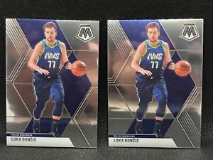 Lot-Of-2-2019-2020-Panini-Mosaic-NBA-Luka-Doncic-Card-44-Dallas-Mavericks