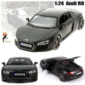 1-24-Maisto-2008-AUDI-R8-Negro-Mate-Serie-Auto-Modelo-Diecast-Regalo-De-Navidad