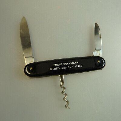 Mutig Taschenmesser Mit Korkenzieher Werbung Beckmann Um 1960 (56117) Rheuma Und ErkäLtung Lindern
