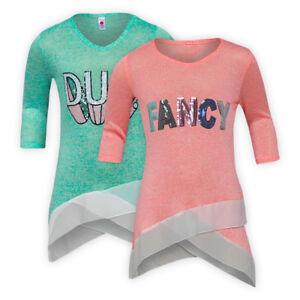 Girls-Light-Knitted-Casual-Top-Half-Sleeve-Sequin-Motif-Children-Jumper-Sweater