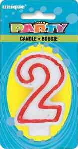 Image Is Loading Number 2 Birthday Cake Candle 2nd Candles