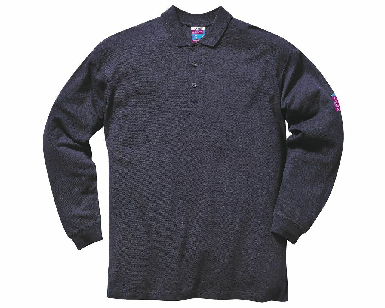 Portwest Flame Resistant Anti-Static Long Sleeve Polo Shirt Fr10