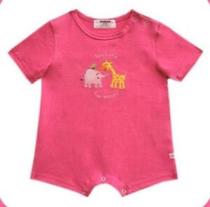 Oshkosh-B-gosh-Dark-Pink-Too-Cute-for-Words-Romper-Infant-Baby-Girl-Clothes-9M