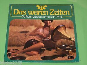 Das-waren-Zeiten-Schlager-von-1934-1948-V-A-Heinz-Maria-Lins-Ariola-2-LP