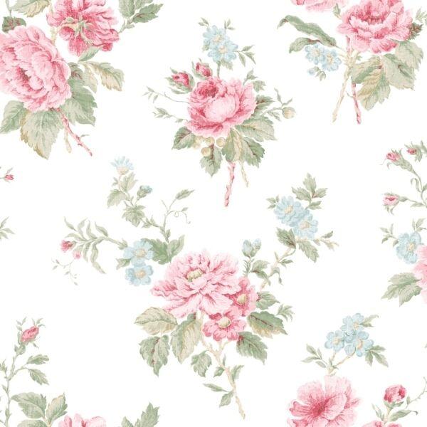 G67296 Jardin Chic Aqua /& Pink Floral Galerie Wallpaper