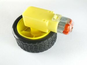 2Pair-Smart-Robot-Car-tyre-Wheel-DC-Uniaxial-Gear-Motor-Gear-Rate-1-48