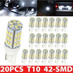 20-Pure-White-T10-921-194-RV-Trailer-Backup-Reverse-LED-Lights-Bulbs-42-SMD-12V