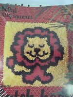 Bettys Betty's Rug Squares Latch Hook Kit 709 Lion 12x12 Pillow Picture