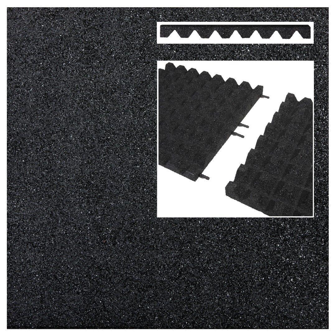 2 m² Fallschutzmatten Fallschutzmatten Fallschutzmatten SCHWARZ + Verbinder Fallschutzplatte Gummimatte Fallschutz e556fb