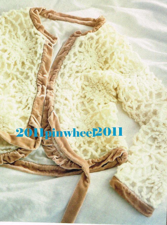 M Very Rare 2005 Anthropologie Crochet Wool