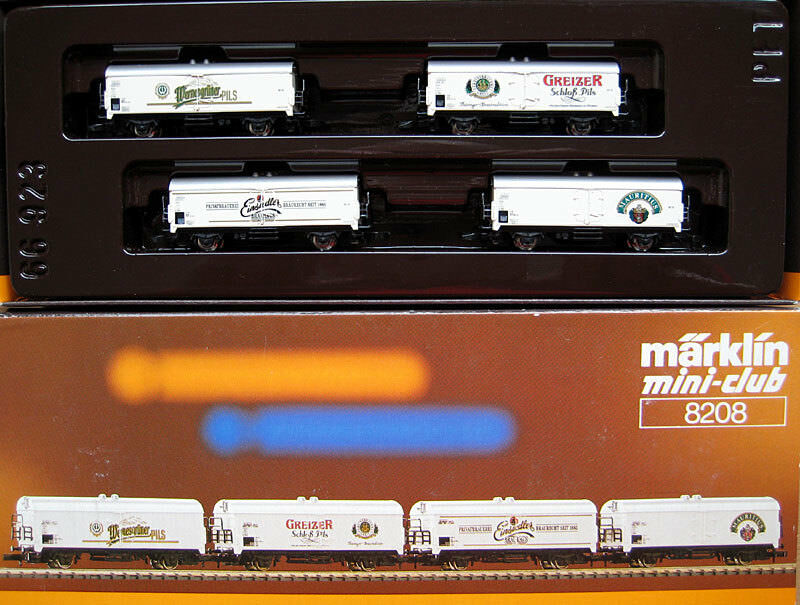 Z miniclub 8208; CARRO BIRRA-Set  della Germania Est birrerie  DR, in scatola originale/d398