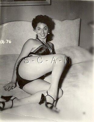 Original Vintage 1940s-60s Nude RP- Two Well Endowed Women