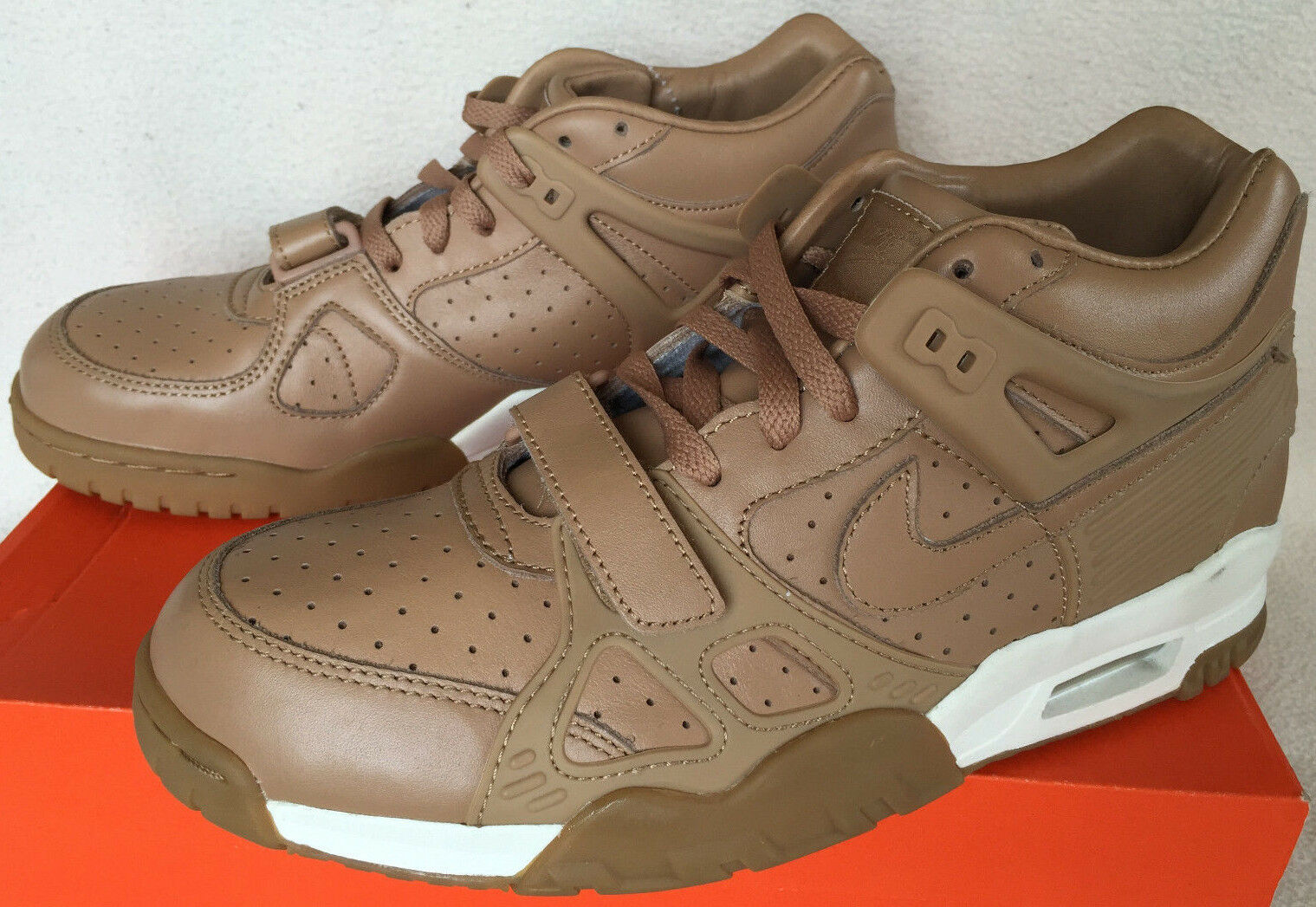 Nike Air Trainer III 3 PRM Premium QS 709989-200 Subdued Gum Shoes Men's 8.5 new