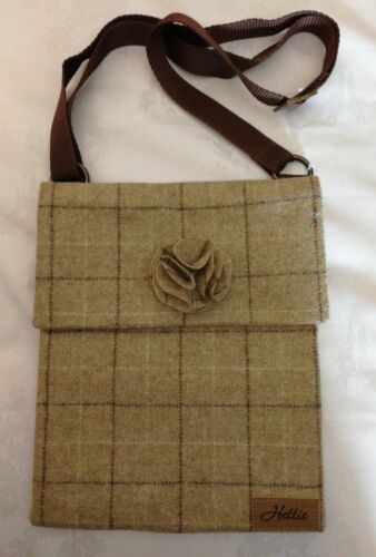 Hettie Ella £135 Beige 100 British Wool Bag Crossbody Rrp Quality rRqwUCr
