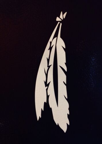 """2x Native American Indian Bird Feather 5 funny Die Cut Vinyl Decal Stickers 6/"""""""