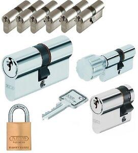 6er set abus security profilzylinder schlie zylinder gleichschlie end ebay. Black Bedroom Furniture Sets. Home Design Ideas