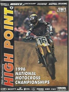 Vintage High Point Nationals 1996 AMA Motocross Program Greg Albertyn