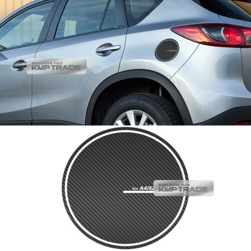 Fuel Oil Tank Door Cap Carbon Decal Sticker Cover Molding for MAZDA 2013-16 CX-5