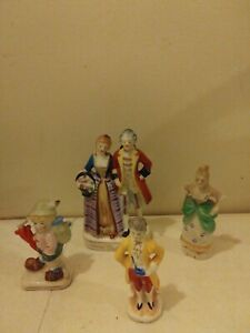 Vintage Porcelain Colonial Victorian Figurines Occupied Japan Japan Lot Of 4 Ebay