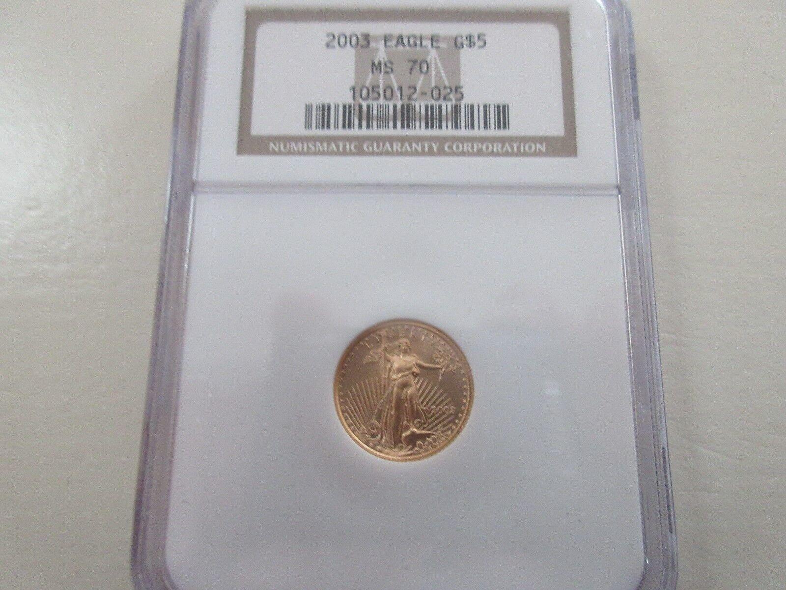 2003 , Eagle G5$ , MS 70 , NGC