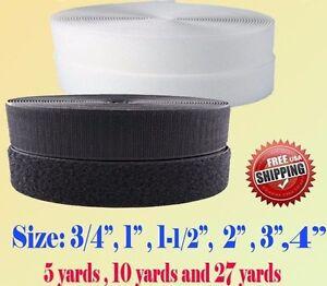 Black-White-Sew-on-Hook-and-Loop-Tape-3-4-034-1-034-1-5-034-2-034-3-034-4-034-5-034-6-034-7-Fastener