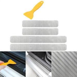 4x Einstiegsleiste Lackschutz Folie in Transparent Carbon Tür Leisten + Rakel