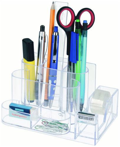 Ra Schere Schreibtisch-Butler in transparent mit Klebefilmabroller  für Stifte