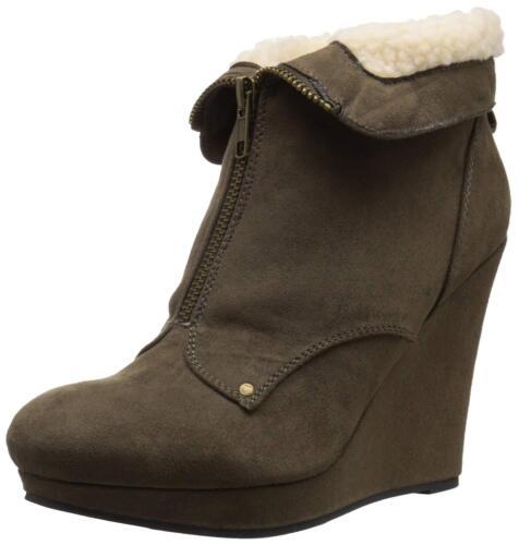 54 Val Khaki für 610425224587 Stiefel Damen Wildleder Qupid Größe 10 TU5qg5