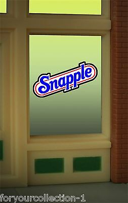 Parts & Accessories Miller Engineering Snapple Animated Neon Window Sign #8905 O/o27 Ho Scale O Scale