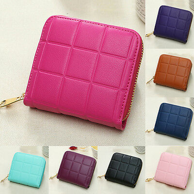Fashion Women Leather Small Wallet Card Holder Zip Coin Purse Clutch Handbag New