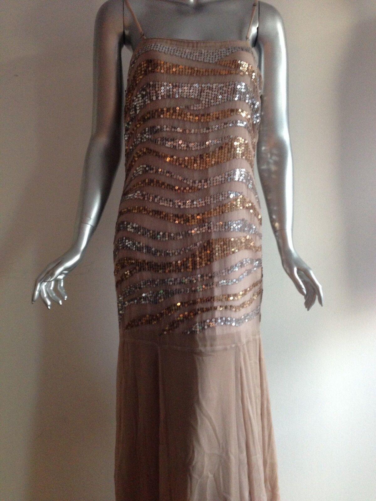 Belounged Kleid, Abendkleid, Robe, Pailetten, Bandeau, Nude, NEU, Gr. 36, Party